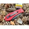 Нож складной Ka-Bar Dozier Folding Hunter, Black Blade, Red Handle
