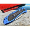 Нож складной Kershaw  Blur, Damascus Blade, Blue Handle