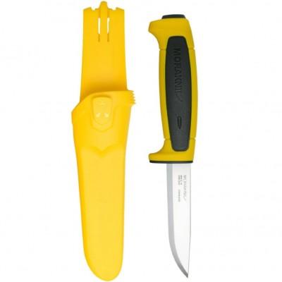 Нож Morakniv Basic 546 2020 Edition нержавеющая сталь, пласт. ручка (желтая) чер. вставка, 13712