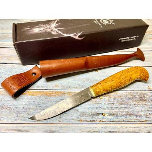 Нож Северная Корона Ilmari,  ZDI-1016 Дамаск