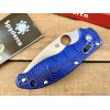 Нож складной Spyderco Manix, BD-1 Blade, Blue Handle