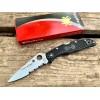 Нож складной Spyderco Endura 4 Black, Blue Line