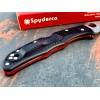 Нож складной Spyderco Endura 4 Black, Red Line