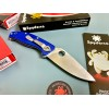Нож складной Spyderco Tenacious, S35VN Blade, Blue FRN Handle