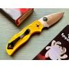 Нож складной Spyderco Native 5, LC200N Blade, Yellow Handle