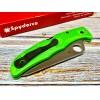 Нож складной Spyderco Pacific Salt 2, LC200N Blade, Green Handle