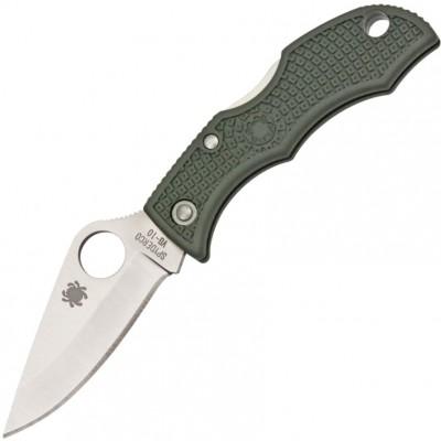Нож складной Spyderco Ladybug 3, Green Handle