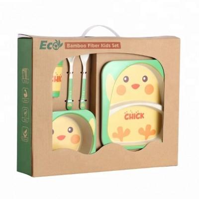 Набор ЭКО посуды для детей Цыпленок в коробке