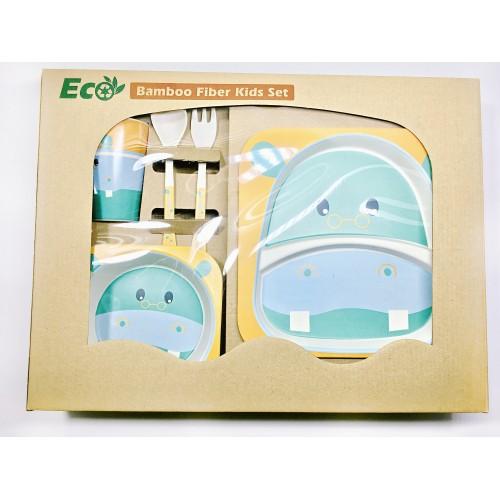 Набор ЭКО посуды для детей Бегемотик в коробке