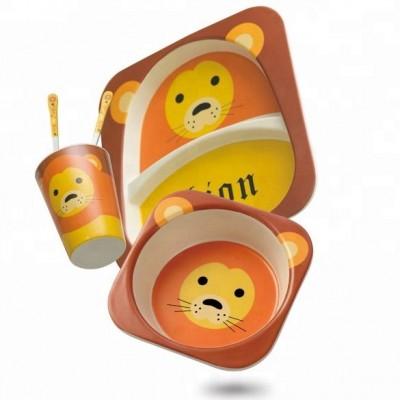 Набор ЭКО посуды для детей Львенок в коробке