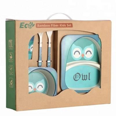 Набор ЭКО посуды для детей Сова в коробке