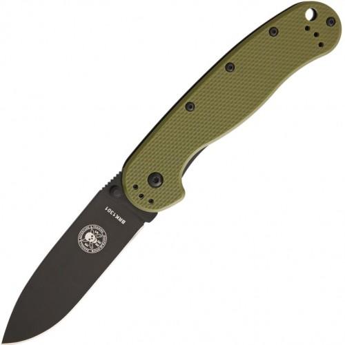 Нож складной Esee Avispa Folder, Black Blade, Green