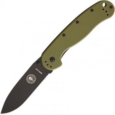 Нож складной Esee Avispa, Black D2 Blade, OD Green