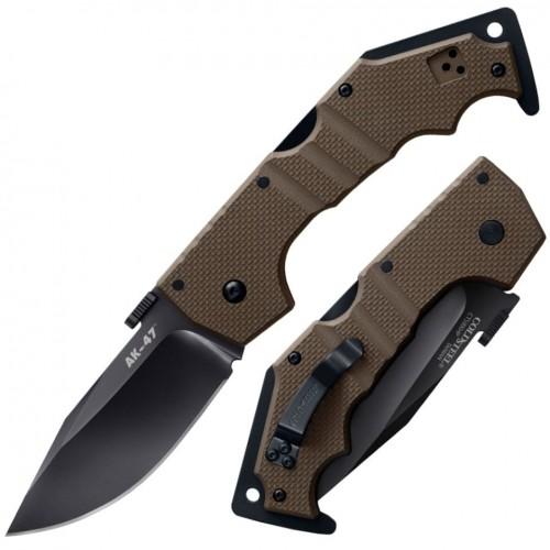 Нож складной Cold Steel AK-47, CTS-XHP Blade, Dark Earth G10 Handles