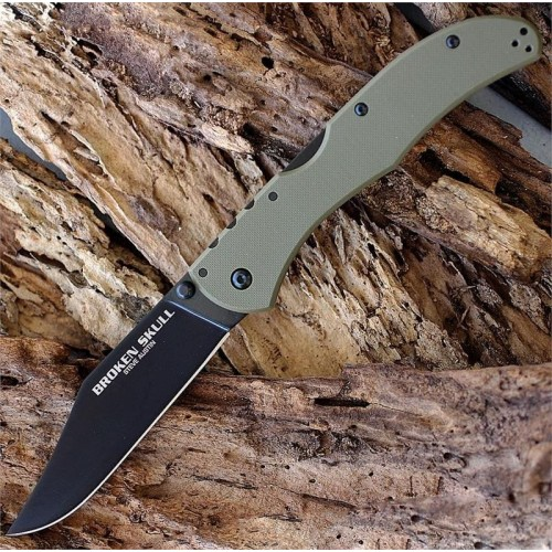 Нож складной Cold Steel Broken Skull III, CTS XHP Blade, OD Green Handle