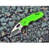 Нож складной Cold Steel Mini Tuff Lite, Plain Edge, Lime Green Handle