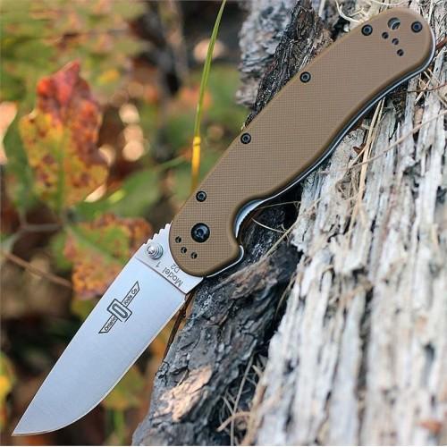 Нож складной Ontario Rat 1 Folder, D2 Blade, Coyote Brown Handle
