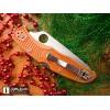 Нож складной Spyderco Endura 4 Sprint Run Burnt Orange