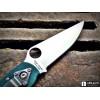 Нож складной Spyderco Military, CTS204P Blade, Green G-10 Handle