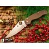 Нож складной Spyderco Para-Military 2, S35 Blade, Dark Earth Brown Handle